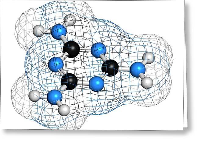 Melamine Molecule Greeting Card by Molekuul