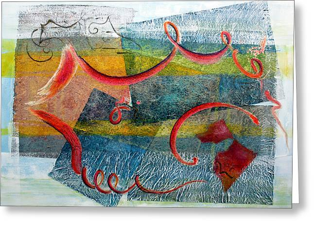 Whimsical Spontaneous Greeting Cards - Melody in My Mind Greeting Card by Asha Carolyn Young