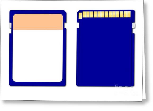 Gigabytes Greeting Cards - Memory Chip Greeting Card by Henrik Lehnerer