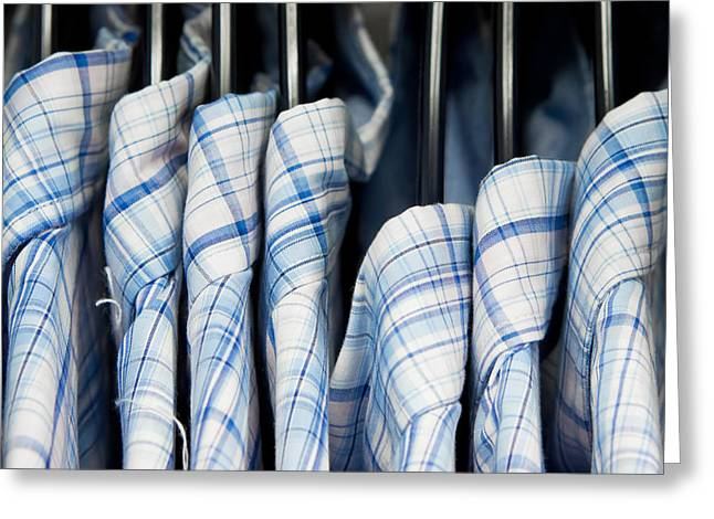 Apparel Greeting Cards - Mens shirts Greeting Card by Tom Gowanlock