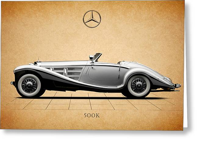 Mercedes Greeting Cards - Mercedes Benz 500K Greeting Card by Mark Rogan