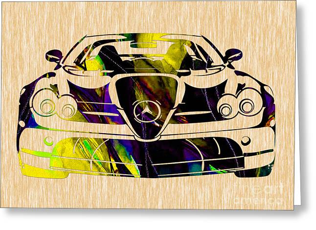 Classic Cars Greeting Cards - Mercedes Benz Painting Greeting Card by Marvin Blaine