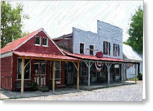 Hills Tapestries - Textiles Greeting Cards - Merchants Row II - Perryville KY Greeting Card by Thia Stover
