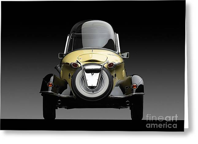 Antique Greeting Cards - Messerschmitt 1957 Greeting Card by Marvin Blaine