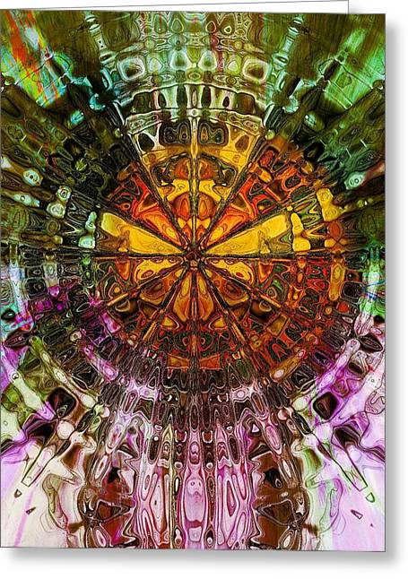 Geometric Digital Art Greeting Cards - Metamorphosis Greeting Card by Amanda Moore