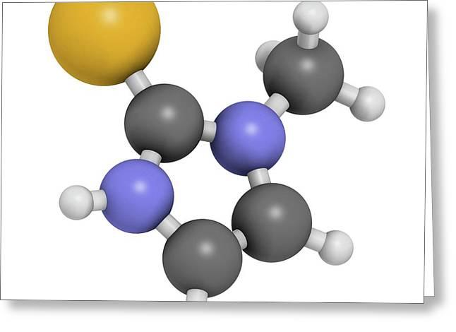 Methimazole Hyperthyroidism Drug Molecule Greeting Card by Molekuul