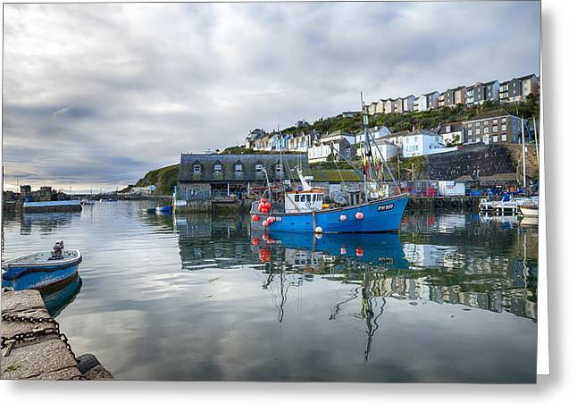 Kernow Greeting Cards - Mevagissey in Cornwall Greeting Card by Helen Hotson
