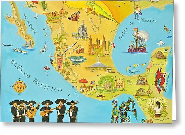 Mexico Greeting Card by Virginia Ann Hemingson