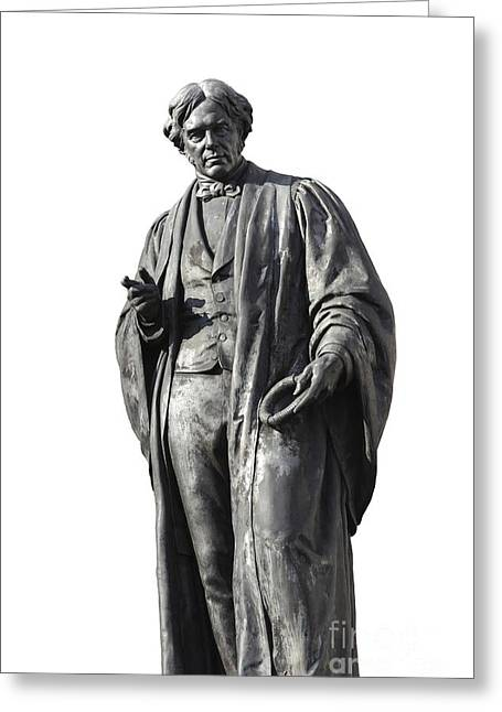 Statue Portrait Photographs Greeting Cards - Michael Faraday, British Physicist Greeting Card by Martin Bond