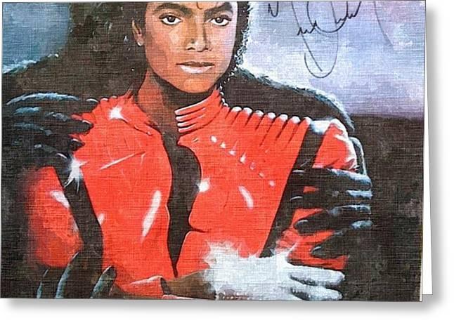 Michael Jackson Autographed reprint Greeting Card by J Nance