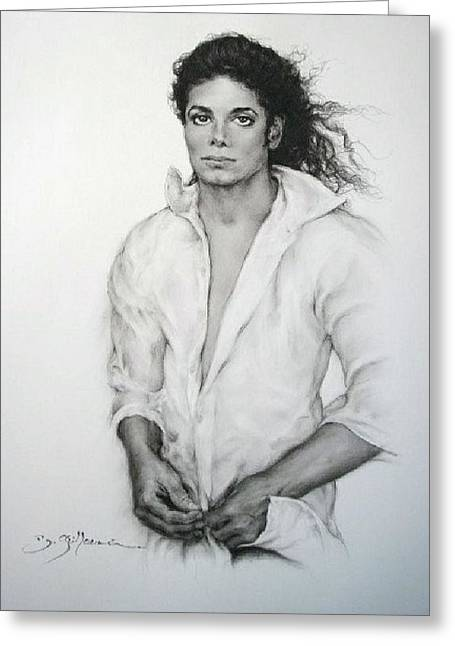 Workshop Guillaume Art Gallery Greeting Cards - Michael Jackson Greeting Card by Guillaume Bruno