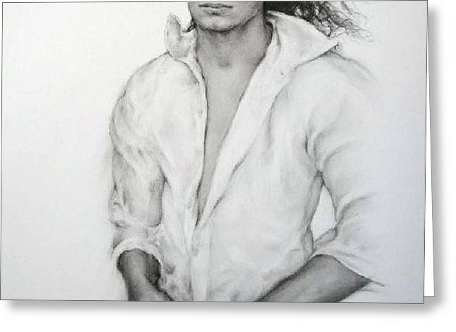 Michael Jackson Greeting Card by GUILLAUME BRUNO