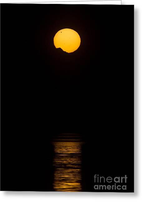 Midnight Sun With Transit Of Venus, 2012 Greeting Card by Babak Tafreshi