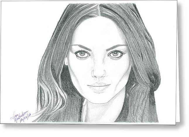 Mila Kunis Greeting Cards - Mila Kunis Greeting Card by Gloria MacEachern