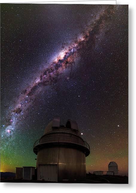 Milky Way Over La Silla Observatory Greeting Card by Babak Tafreshi