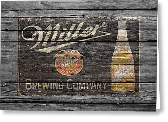 Saloons Greeting Cards - Miller Greeting Card by Joe Hamilton