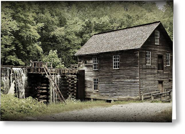 Old Barns Greeting Cards - Mingus Mill Greeting Card by Stephen Stookey