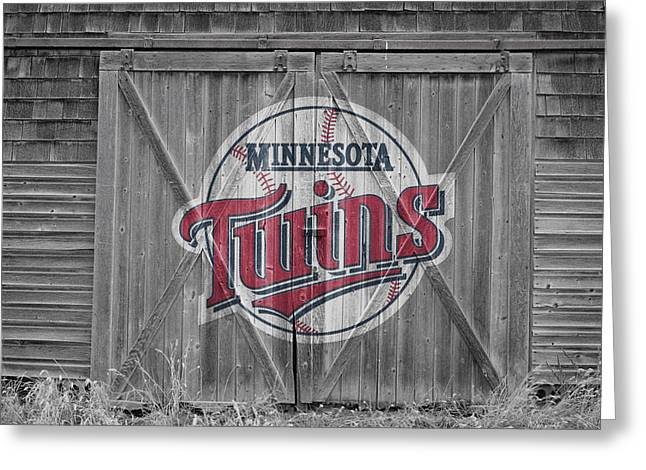 Twins Greeting Cards - Minnesota Twins Greeting Card by Joe Hamilton