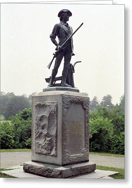 Minuteman Greeting Cards - Minutemen Soldier Greeting Card by Granger