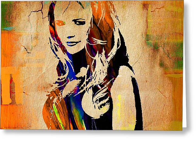Best Sellers -  - Nashville Tennessee Greeting Cards - Miranda Lambert Collection Greeting Card by Marvin Blaine