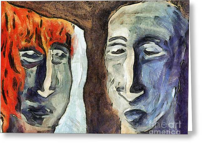 Freakish Greeting Cards - Mirroring - Retrospect Greeting Card by Michal Boubin
