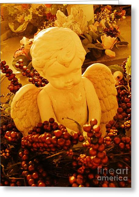 Halifax Art Work Photographs Greeting Cards - Mischevious Little Cherub Takes a Pee Greeting Card by John Malone