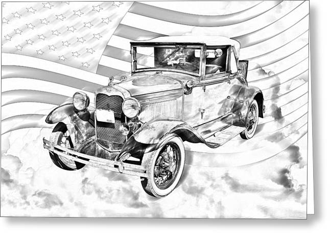 31 Greeting Cards - Model A Ford Roadster Convertible Antique Car Greeting Card by Keith Webber Jr