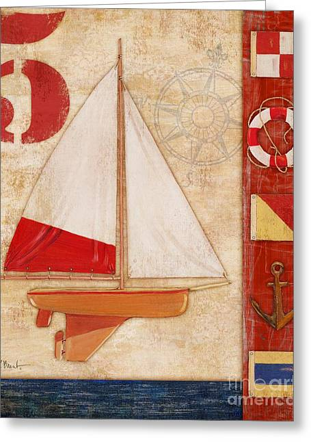 Toy Boat Greeting Cards - Model Yacht Collage II Greeting Card by Paul Brent