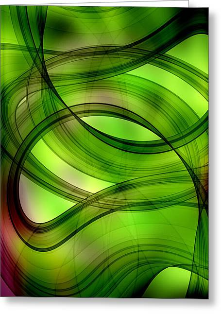 Geometric Style Greeting Cards - Modern Abstract Greeting Card by Modern Art Prints