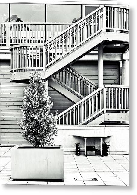 Stepping Stones Greeting Cards - Modern architecture Greeting Card by Tom Gowanlock