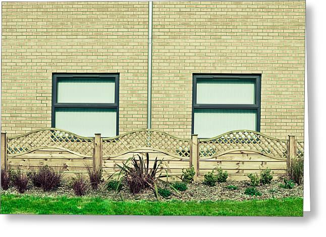 Drain Greeting Cards - Modern building Greeting Card by Tom Gowanlock