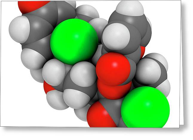 Mometasone Furoate Steroid Drug Molecule Greeting Card by Molekuul