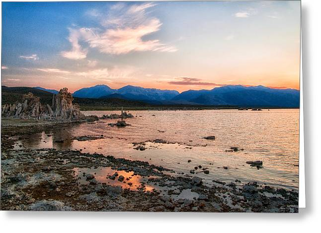 Tufa Greeting Cards - Mono Lake Sunset Greeting Card by Cat Connor