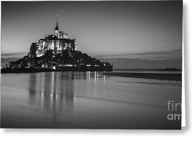 France Photographs Greeting Cards - Mont-St-Michel Normandy France Greeting Card by Colin and Linda McKie