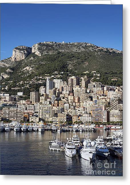 Sovereign Greeting Cards - Monte Carlo Harbor Greeting Card by John Greim