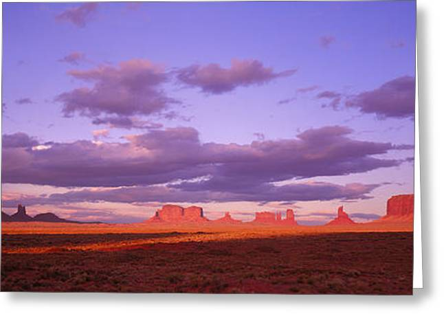 Colorful Southwest Greeting Cards - Monument Valley, Arizona, Usa Greeting Card by Panoramic Images