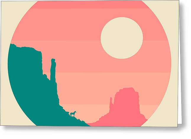 Navajo Tribal Park Greeting Cards - Monument Valley Navajo Tribal Park Greeting Card by Jazzberry Blue