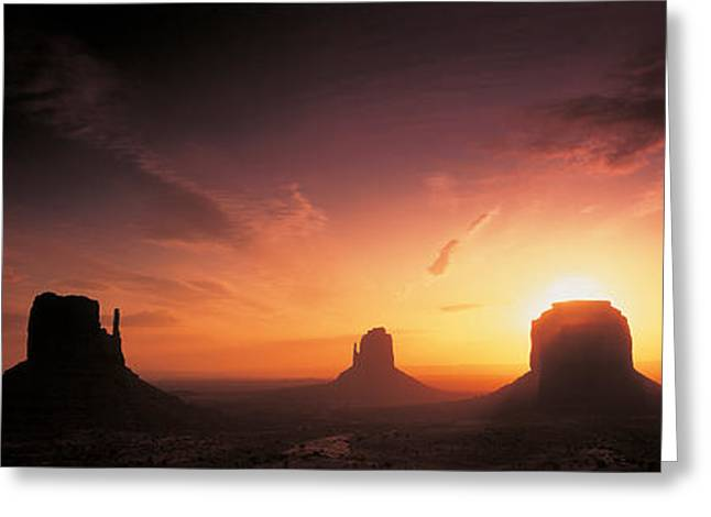 Cloud Formations. Cloud Photography Greeting Cards - Monument Valley, Utah, Usa Greeting Card by Panoramic Images