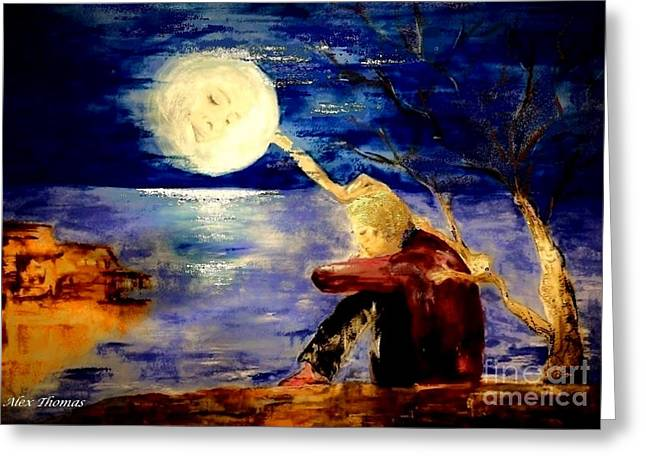 Consolation Greeting Cards - Moon Consolation  Greeting Card by Alex Thomas