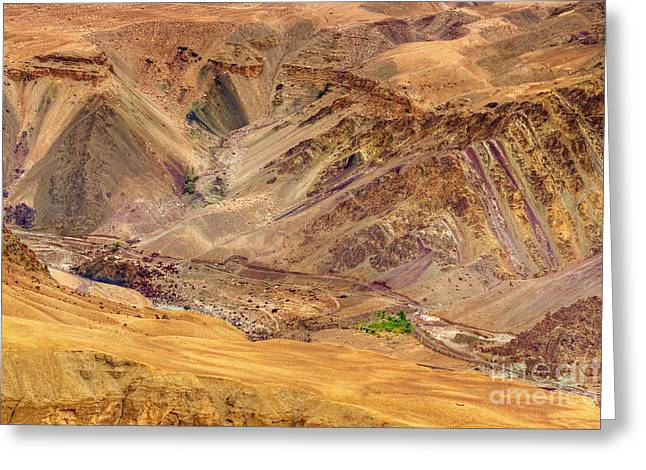 Indus Valley Greeting Cards - Moonland Ladakh Jammu and Kashmir India Greeting Card by Rudra Narayan  Mitra