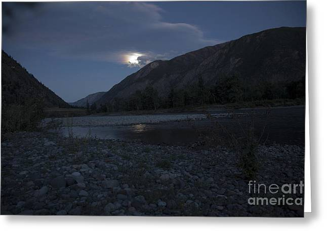 Moonshadow Greeting Cards - Moonshadow Greeting Card by Graham Foulkes