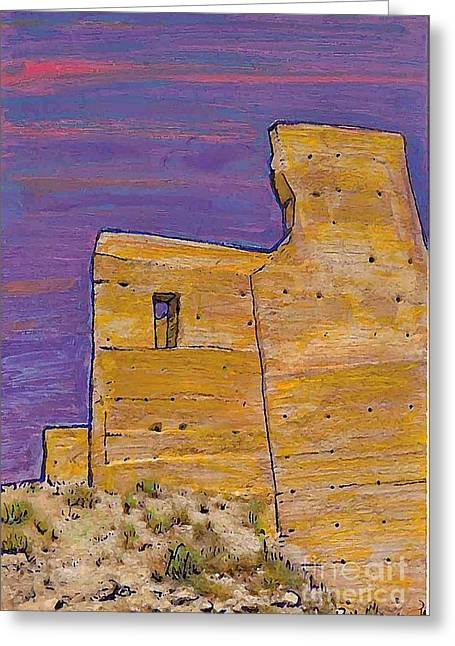 Europe Mixed Media Greeting Cards - Moorish Fort in Jumilla Greeting Card by Sarah Loft