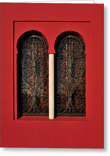Tetyana Kokhanets Greeting Cards - Moorish Style Window Greeting Card by Tetyana Kokhanets