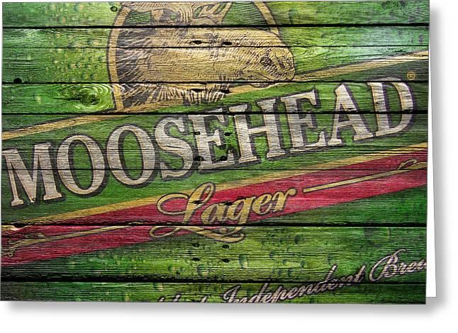 Saloons Greeting Cards - Moosehead Greeting Card by Joe Hamilton