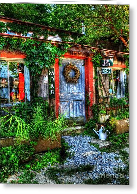 Small Towns Greeting Cards - More Old Stuff Greeting Card by Mel Steinhauer