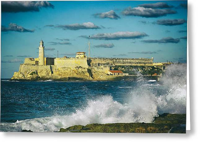 Morro Castle Greeting Cards - Morro Castle - Havana Greeting Card by Mountain Dreams