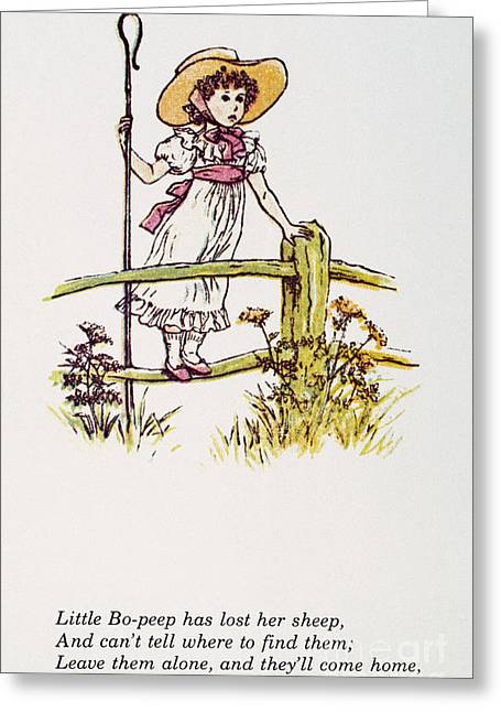 Mother Goose Greeting Cards - Mother Goose: Bo-peep Greeting Card by Granger