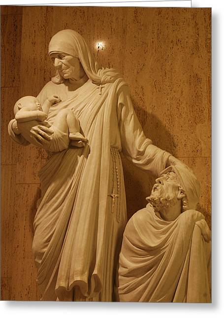 Mother Theresa Greeting Cards - Mother Theresa Statue Greeting Card by Philip Ralley