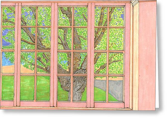Mt Drawings Greeting Cards - Mother Wellers Tree Greeting Card by Lesa Weller