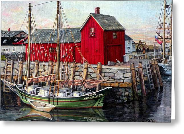 Schooner Paintings Greeting Cards - Motif  Number One Greeting Card by Eileen Patten Oliver